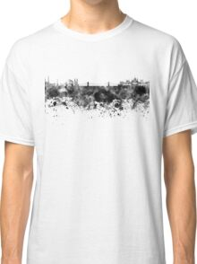 Budapest skyline in black watercolor Classic T-Shirt