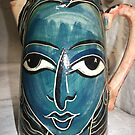 painted face jug by catherine walker