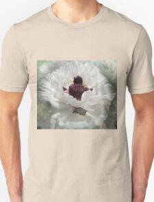 Beautiful white poppy Unisex T-Shirt