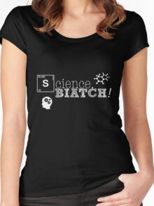 Science, biatch! BioEng White Women's Fitted Scoop T-Shirt