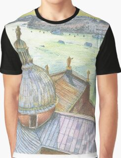 VENICE. View to Grand Canal from Basilica Di San Giorgio Maggiore.  Graphic T-Shirt