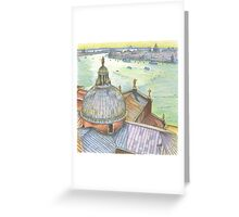 VENICE. View to Grand Canal from Basilica Di San Giorgio Maggiore.  Greeting Card