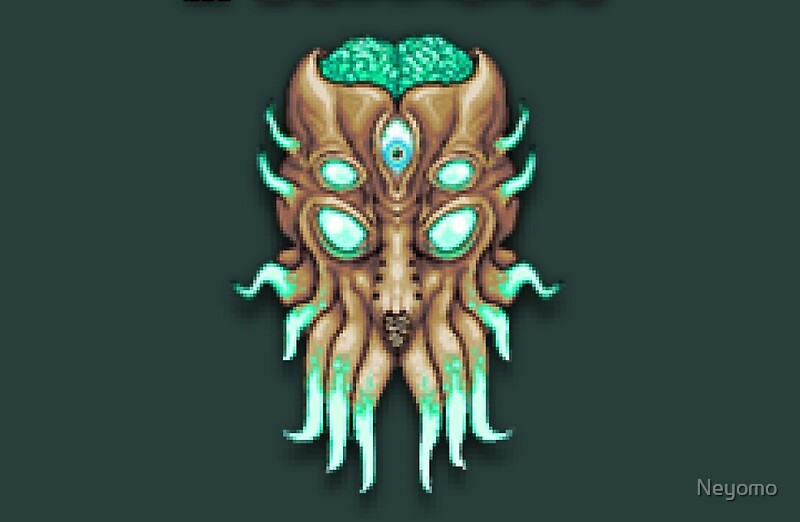 Quot Terraria Moon Lord Head Quot Laptop Skins By Neyomo Redbubble
