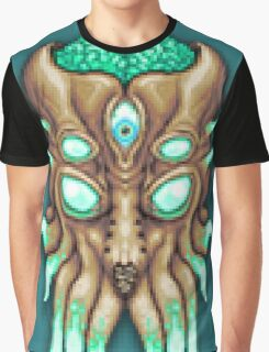 Terraria Moon Lord Head Graphic T-Shirt