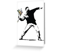 Flower man - Street art Greeting Card
