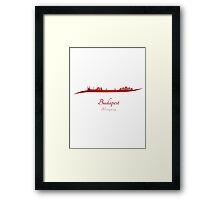 Budapest skyline in red Framed Print