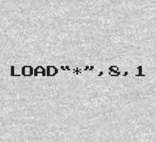 "LOAD""*"",8,1 - Commodore 64 Kids Tee"