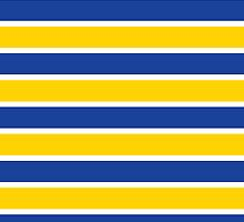 Blue and Yellow French Sailor Stripes by crycepaul