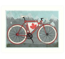Love Bike, Love Canada Art Print