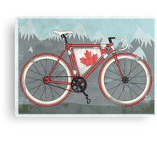 Love Bike, Love Canada Canvas Print