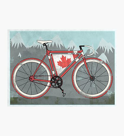 Love Bike, Love Canada Photographic Print