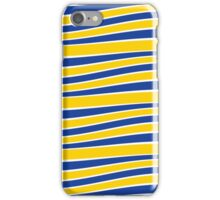 Yellow and Blue Wavy French Stripes iPhone Case/Skin