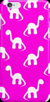 Dinosaurs in Pink by giraffoarts