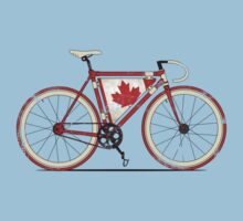 Love Bike, Love Canada One Piece - Short Sleeve