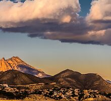 Evening clouds over Puig Campana by Ralph Goldsmith