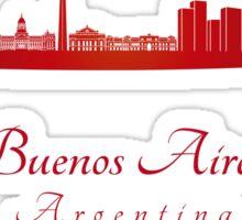 Buenos Aires skyline in red Sticker