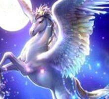 Night flight Unicorn Sticker