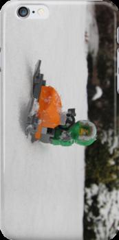 LEGO Mini Eskimo on Snowmobile by ArtShopEtc