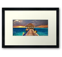 Maldives Sunset  Framed Print