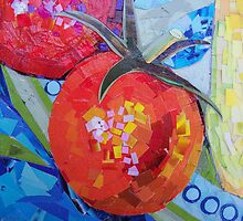 Garden Harvest Collage Detail by SRowe Art