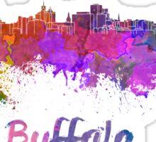Buffalo skyline in watercolor Sticker