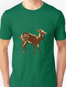 Philippine Spotted Deer Woodcut T-Shirt