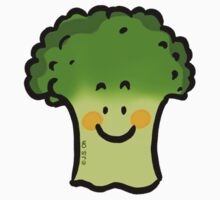 Cute veggie broccoli cartoon One Piece - Short Sleeve
