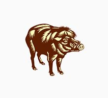 Philippine Warty Pig Woodcut Unisex T-Shirt