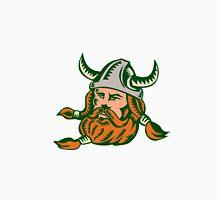 Viking Warrior Head Woodcut Unisex T-Shirt
