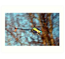RC Helicopter Art Print