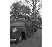 Ghostly Chevy Photographic Print