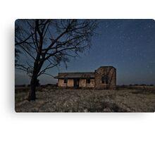 Booleroo North Abandoned Homestead in Moonlight Canvas Print