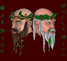 The Oak And Holly Kings by PixelGnasher