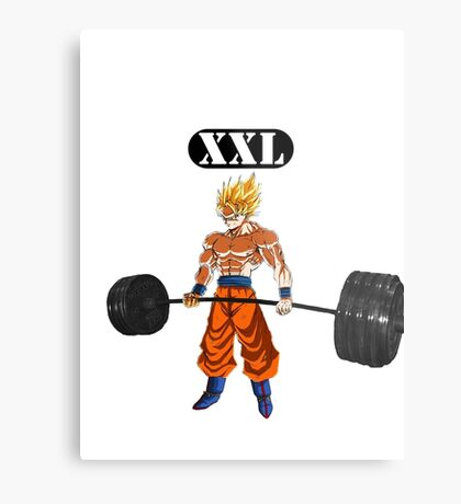 Super Saiyan Gym White Metal Print