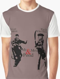 Mr. & Mrs. Pond - Doctor Who Graphic T-Shirt
