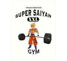 Super Saiyan Gym Art Print
