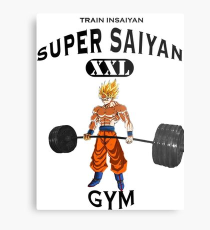 Super Saiyan Gym Metal Print