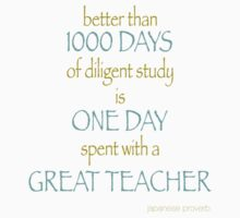 great teacher proverb by designsalive