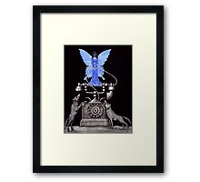 Telephone Fairy pen ink surreal drawing Framed Print