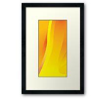 Yellow-Orange Flame Framed Print