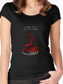 """""""Twin Peaks"""" - A damn fine cup of coffee Women's Fitted Scoop T-Shirt"""