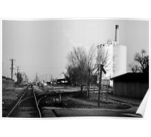 B&W Train Depot Poster