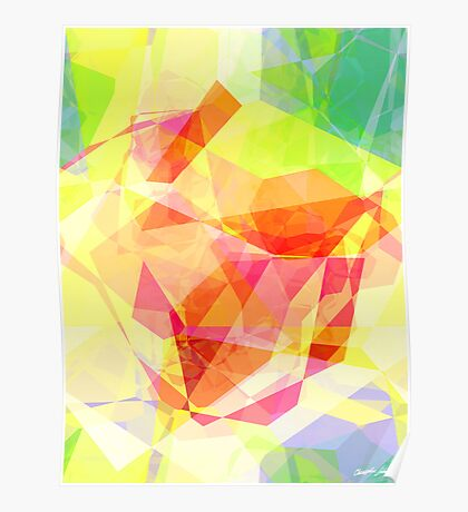Abstract Polygons 121 Poster
