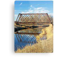 Rusty Reflection Metal Print