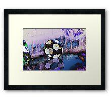 Water Ball Reflection. Framed Print