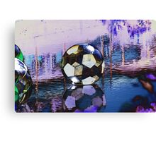 Water Ball Reflection. Canvas Print