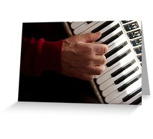 Accordion Man Greeting Card