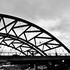 B&W Bridge into Nothing by Jake Kauffman