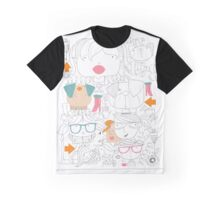 Faces and pets and specs Graphic T-Shirt