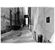 B&W Denver Alley Poster